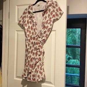 Club Monaco Floral Wraparound Dress